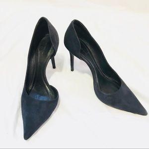 Celine navy suede d'orsay pumps - size 37.5
